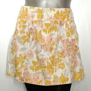Old Navy Mini Skirt Vintage Floral Pocket Linen XL
